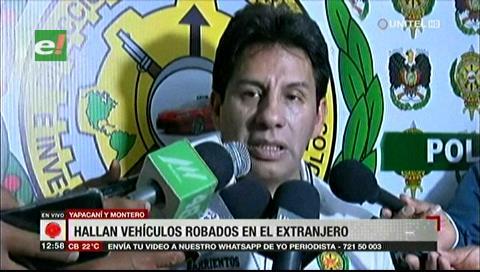 Recuperan vehículos robados en el extranjero y que estaban en Yapacaní y Montero