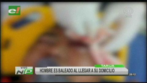 Tarija: Hombre es baleado en Bermejo y se encuentra internado en estado crítico