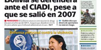 Portadas de periódicos de Bolivia del martes 14 de agosto de 2018