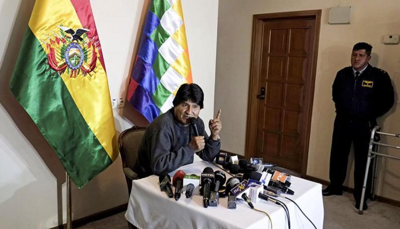 Resultado de imagen para presidente Evo Morales en conferencia de prensa