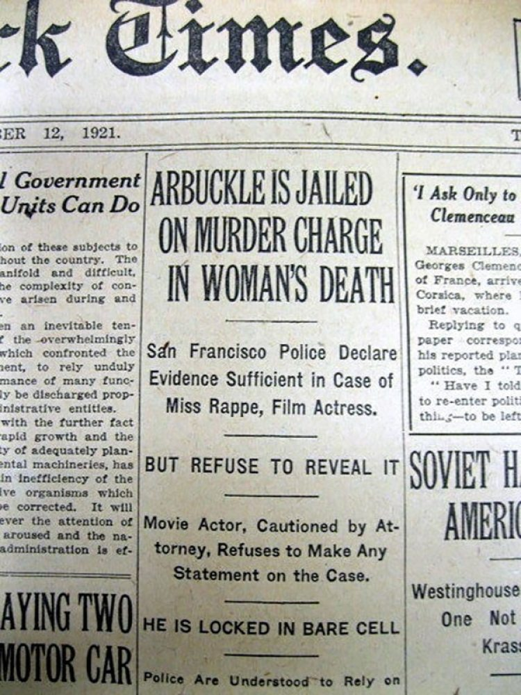 La detención del cómico llegó a la primera plana de los principales diarios de la época