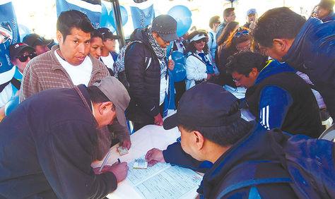 Labor. El partido oficialista inició el proceso de inscripción de militantes el 19 de mayo.