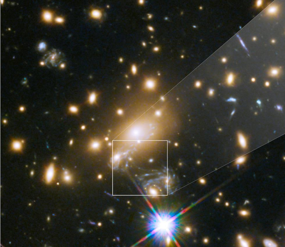 Imagen del cúmulo de galaxias MACS J1149