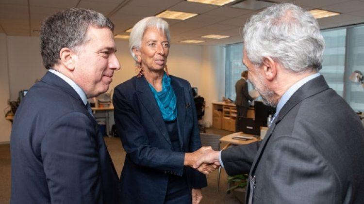 Dujovne, Lagarde y Cañonero, vice del BCRA, esta semana en el FMI