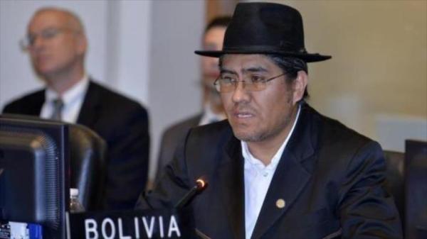 El embajador de Bolivia ante la Organización de Estados Americanos (OEA), Diego Pary, durante una reunión del organismo.