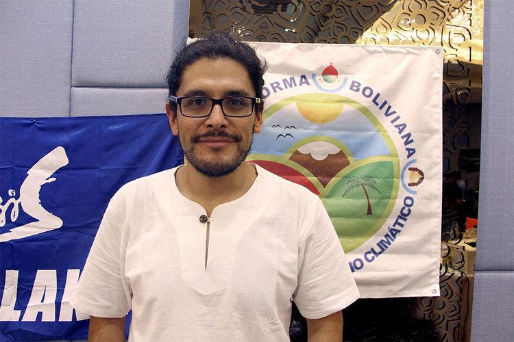 El activista boliviano Martin Vilela. Foto: EFE
