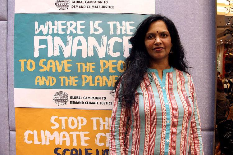 La activista medioambiental de India Vidya Dinker. Foto: EFE
