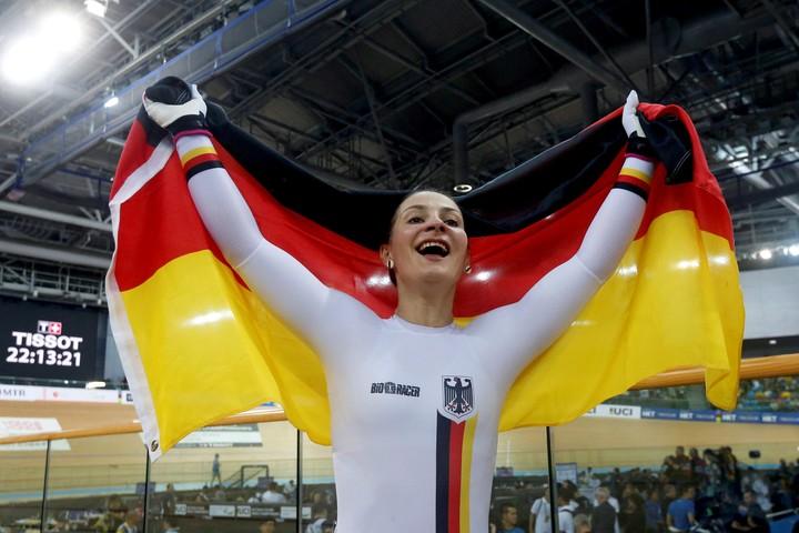 En marzo, Vogel se colgó dos oros en el Mundial de pista de Apeldoorn. //REUTERS