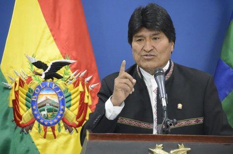 El presidente Evo Morales durante una conferencia de prensa en la Casa Grande del Pueblo. Foto: ABI