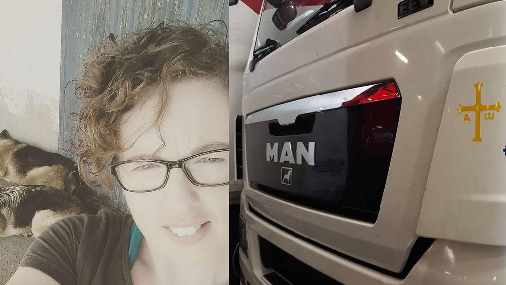 Yésica y su camión. En este nuevo trabajo la mujer era feliz.