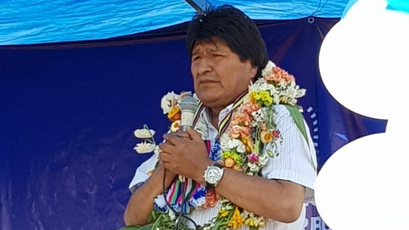 """Evo en entrega obras en Cochabamba: """"Ya estamos en campaña"""""""