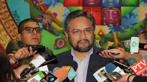 El ministro de la Presidencia, Alfredo Rada.