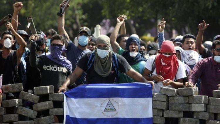 """""""Apoyamos el proceso del Diálogo Nacional liderado por la Iglesia católica y llamamos, nuevamente, al Gobierno de Ortega a retomar dicho proceso"""", anotó la embajada estadounidense"""