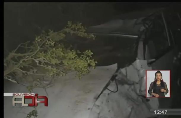 Un vehículo se embarrancó en Morochata