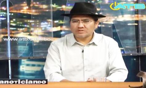 El canciller Diego Pary en el set del programa Anoticiando.