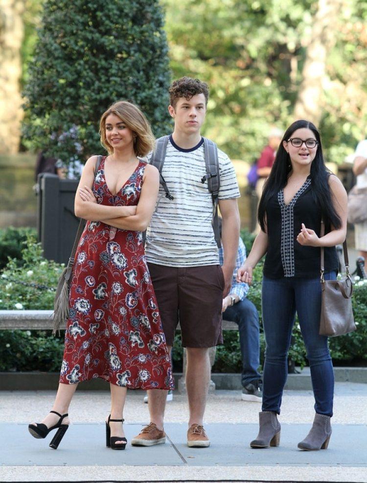 """Sarah Hyland, Ariel Winter y Nolan Gould, los niños protagonistas de """"Modern Family"""""""