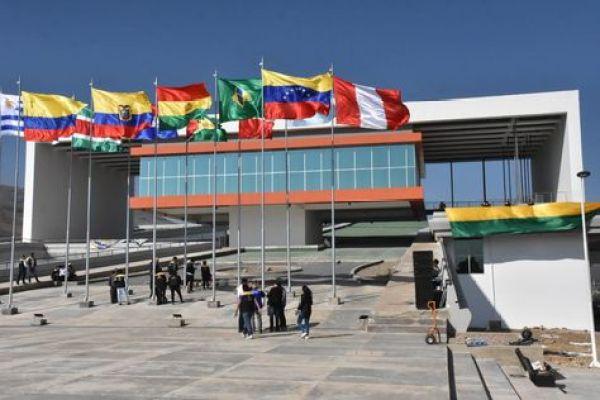 La sede del Parlamento de Unasur que Bolivia construyó en Cochabamba.