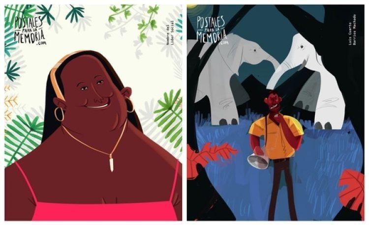 Santa Felicinda Santamaría, trabajaba en contra de las bandas de microtráfico en Chocó; y Luis Barrios Machado, líder indígena asesinado en Atlántico.