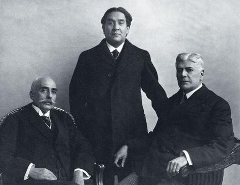 La delegación boliviana conformada por Félix Avelino Aramayo, Franz Tamayo y Florián Zambrana. Foto: Archivo Liga de las Naciones vía Robert Brockmann