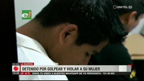 Sujeto es detenido por golpear y violar a su mujer