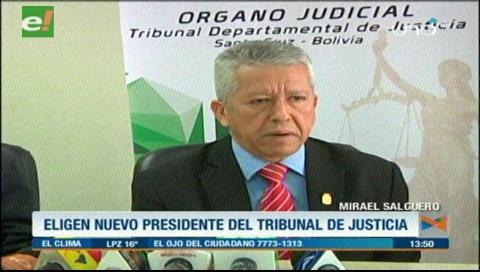 Mirael Salguero fue elegido como presidente del TDJ de Santa Cruz