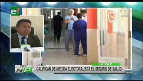 """Colegio Médico califica como """"medida electoral"""" el Seguro Universal de Salud"""