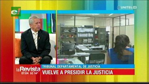 Presidente del TDJ de Santa Cruz afirma que se investigará las denuncias contra jueces