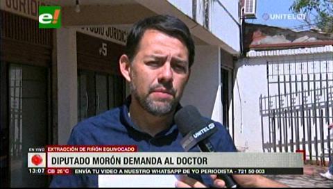 Caso Sebastián: Diputado Morón presenta demanda contra médico