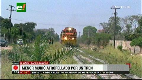 Un niño muere arrollado por un tren en Santa Cruz