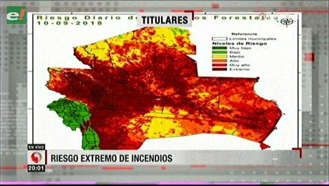Video titulares de noticias de TV – Bolivia, noche del lunes 10 de septiembre de 2018