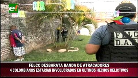 Santa Cruz: Capturan a peligrosa banda de delincuentes liderada por colombianos