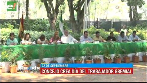 Declaran 22 de septiembre Día del Comerciante Trabajador Gremial