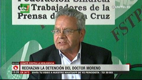 Comité contra la negligencia rechaza la detención del médico Roger Moreno