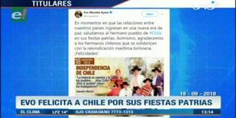Video titulares de noticias de TV – Bolivia, mediodía del martes 18 de septiembre de 2018