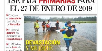 Portadas de periódicos de Bolivia del sábado 15 de septiembre de 2018