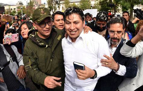 Jhiery Fernández sale de la cárcel de San Pedro. Fue el miércoles.