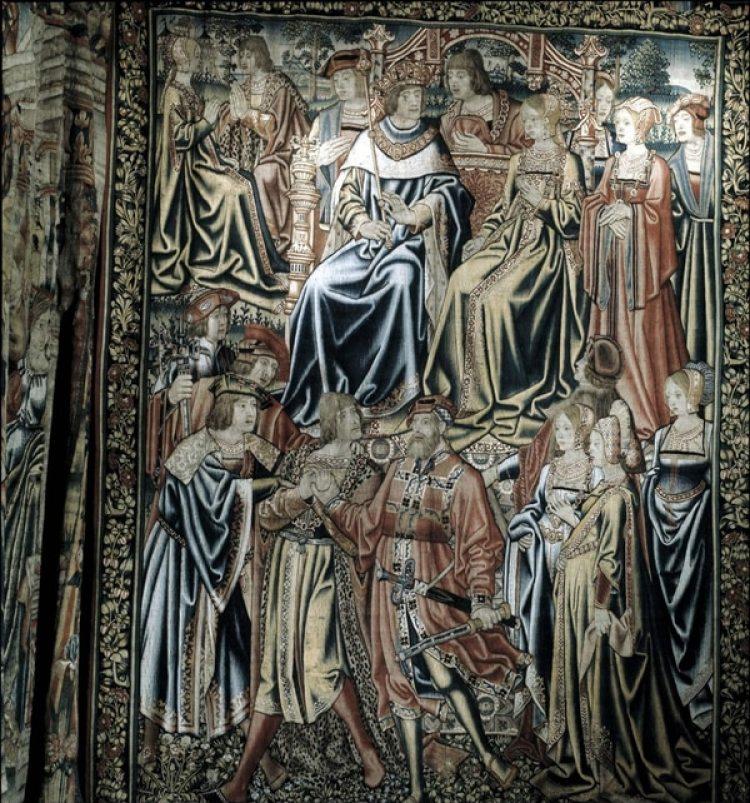 Boda de los Reyes Católicos, Tapiz. Fernando de Aragón e Isabel la Católica, Catedral de Lérida
