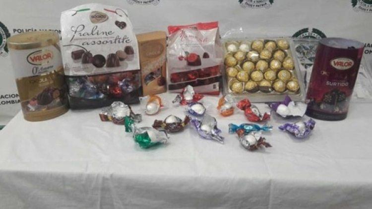 El chocolate fue reemplazado por bolas de cocaína, por lo que el producto pesaba más de lo normal.