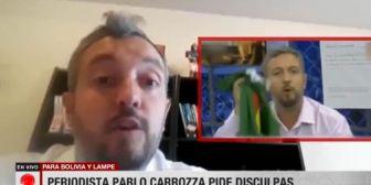 Periodista argentino pidió disculpas a Lampe y al país