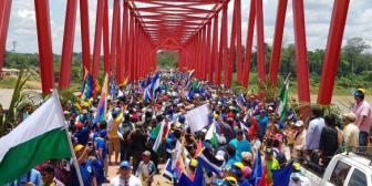 Presidente inaugura puente vehicular de 481 metros que integra a Beni y Pando