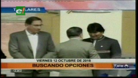 Video titulares de noticias de TV – Bolivia, noche del viernes 12 de octubre de 2018