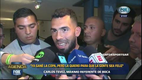 Carlos Tevez: «Lampe es grandote»