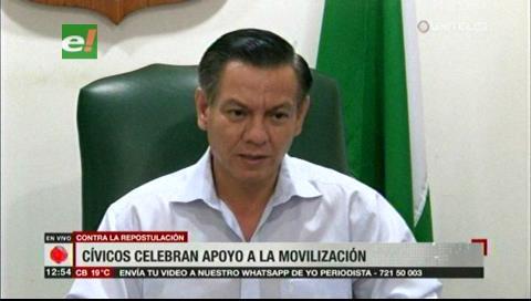Comité Cívico cruceño anuncia nuevas movilizaciones exigiendo respeto al 21F