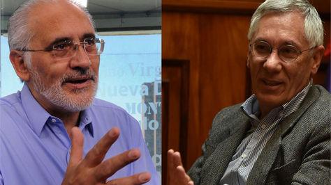 Los exmandatarios Carlos Mesa y Eduardo Rodríguez Veltzé.