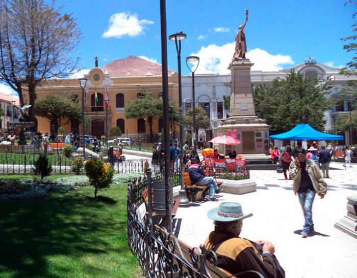 Plaza principal de la Villa Imperial.