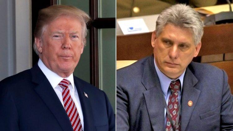Donald Trump y Miguel Díaz-Canel