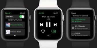 La aplicación de Spotify ya está disponible para el Apple Watch