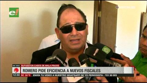 Romero pide eficiencia a nuevos fiscales en casos de presunta mala praxis