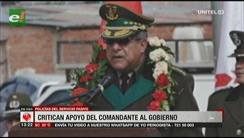 Policías del Servicio Pasivo critican el apoyo del Comandante Nacional al Gobierno