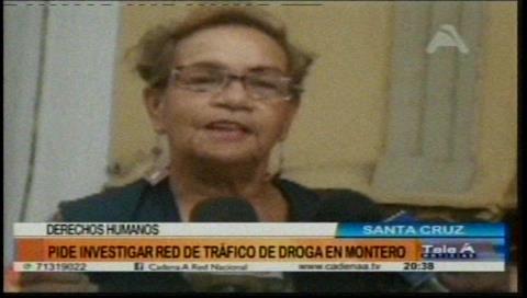 Derechos Humanos pide investigar red de tráfico de droga en Montero